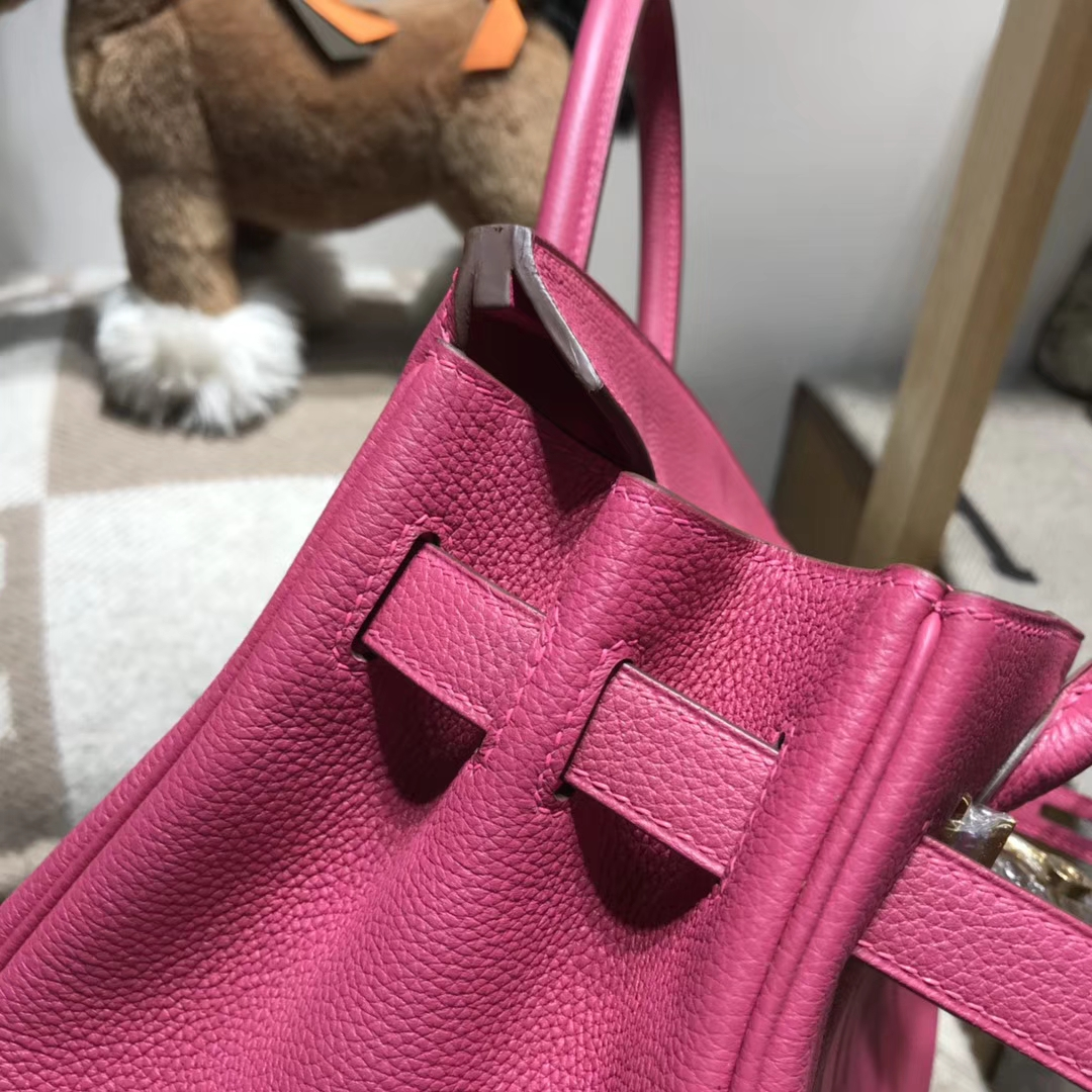 Hermes 爱马仕 Birkin 30 Togo 18年最新 rose purple L3玫瑰紫 金扣 简直美翻天了 H玩家必入